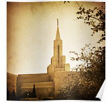 Bountiful LDS Temple - Sepia Poster