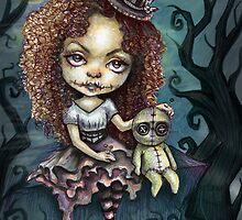 Dark Magic Voodoo Girl by DianaLevinArt