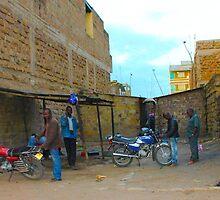 Local guys at sunset in Nairobi, KENYA by Atanas Bozhikov Nasko