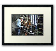 Hercus Lathe Framed Print