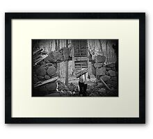 Self Portrait, So you lost your trust and you never should have... Framed Print