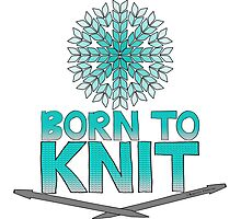 Born To Knit Turquoise Gradient Photographic Print