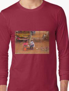 Local woman selling tomatoes on Mombasa Road, KENYA Long Sleeve T-Shirt
