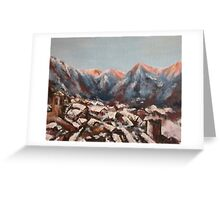Sunrise in the Alps Greeting Card