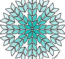 Knit Stitch Starburst Turquoise Gradient by Kristin Omdahl