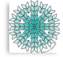 Knit Stitch Starburst Turquoise Gradient Canvas Print