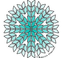 Knit Stitch Starburst Turquoise Gradient Photographic Print
