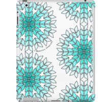 Knit Stitch Starburst Turquoise Gradient iPad Case/Skin