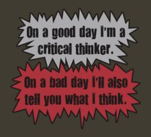 Critical Thinker by Octochimp Designs