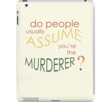 Assume Murder iPad Case/Skin