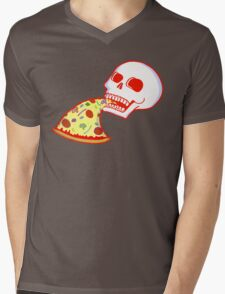 Pizza til I Die Mens V-Neck T-Shirt