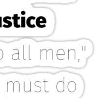 Equal and exact justice Spooner quote Sticker