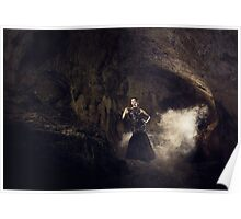 Mystic fantasy girl in a cave Poster