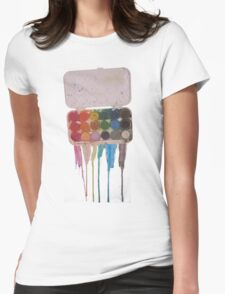 messy painter Womens Fitted T-Shirt