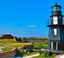 Fort Jefferson Lighthouse by David Davies