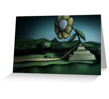 The Temple Flower Greeting Card