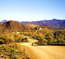 Winding through the Flinders Ranges by Michael John
