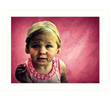 The Tomboy and her Muddy Misadventure Art Print