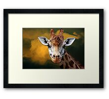 """""""Mr Giraffe..."""" Framed Print"""