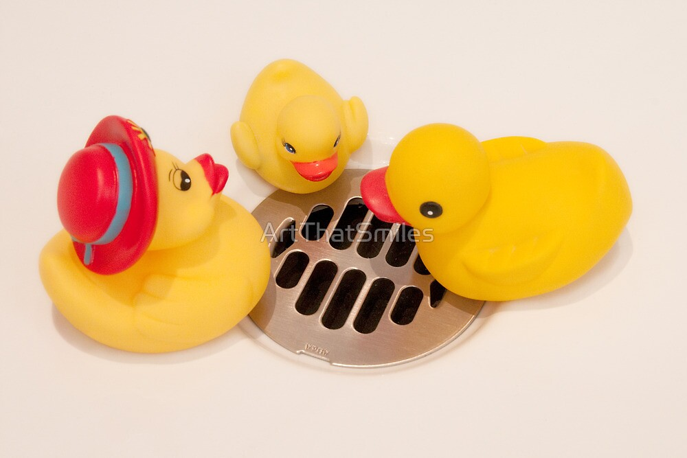 """""""Where Did All The Water Go?"""" - rubber ducks looking for water by ArtThatSmiles"""