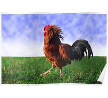 """""""Cocky Attitude"""" - rooster with attitude Poster"""