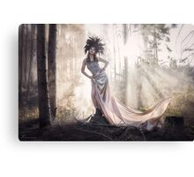 Epic fantasy girl in forest Canvas Print