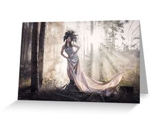 Epic fantasy girl in forest Greeting Card