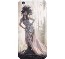 Epic fantasy girl in forest iPhone Case/Skin