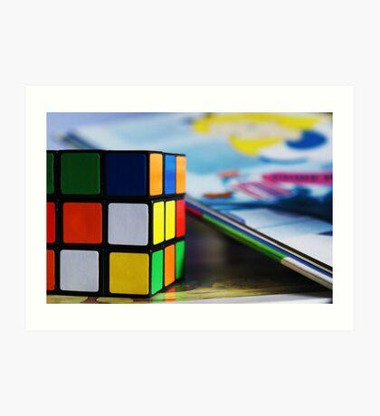 Rubix Cube Art Print