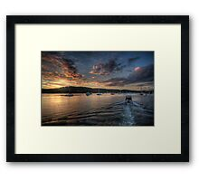 Into The Light - Newport, Sydney - The HDR Experience Framed Print