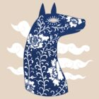 The Water Horse in Blue and White by SusanSanford