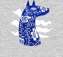 The Water Horse in Blue and White Unisex T-Shirt