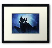 Toothless - painting Framed Print