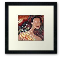 Mahuika - Fire Goddess Framed Print