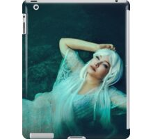 Mermaid elven girl in water iPad Case/Skin