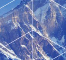 Geometric Snowy Mountains Sticker