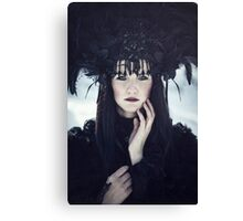 Beautiful gothic woman Canvas Print