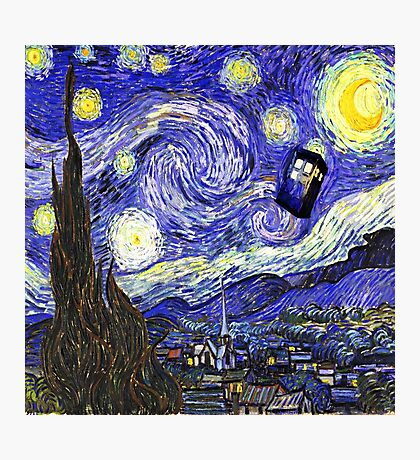 Tardis Starry Night Photographic Print