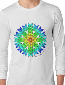 Knit Burst Rainbow Long Sleeve T-Shirt