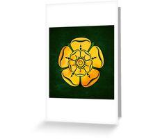 Gold Rose Greeting Card