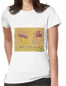 Folk Art Fairy Womens Fitted T-Shirt