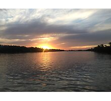 Sunset on the Parana River Photographic Print