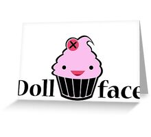 Doll Face - Cupcake Greeting Card