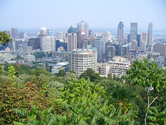 Montreal, as viewed from the Mountain by isafantasy