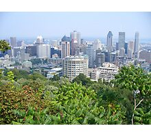 Montreal, as viewed from the Mountain Photographic Print