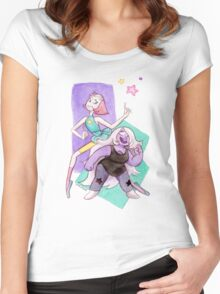 Synchronize: Pearl and Amethyst Steven Universe Women's Fitted Scoop T-Shirt