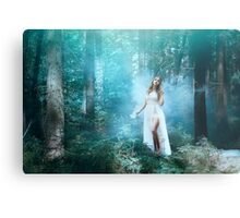 Mystic forest fairy Metal Print