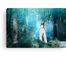 Mystic forest fairy Canvas Print