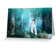 Mystic forest fairy Greeting Card