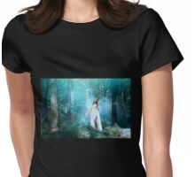 Mystic forest fairy Womens Fitted T-Shirt